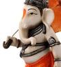 Earth Multicolour Polyresin Umbrella Ganesha Showpiece
