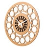 Multicolour Wood 12 x 0.5 x 12 Inch Round Ring Cutout Wall Clock by Earth