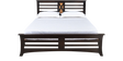 Edge Queen Size Bed in Walnut Finish by @Home