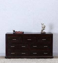 Edmonds Chest Of Seven Drawers In Warm Chestnut Finish By Woodsworth