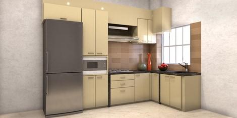 L Shaped Modular Kitchen - Buy L Shaped Kitchen Design ...