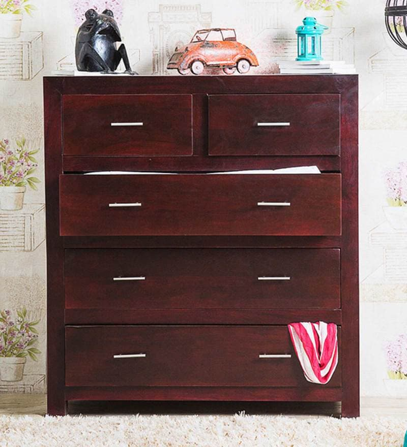 Edmonds Chest Of Five Drawers in Passion Mahogany Finish by Woodsworth