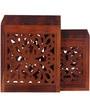 Verona Set of Tables in Honey Oak Finish by Woodsworth