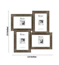 elegant arts and frames gray synthetic wood 13 x 13 inch collage photo frame