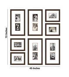 Elegant Arts And Frames Brown Synthetic Wood Approx. 40 X 44 Inch Collage Photo Frame