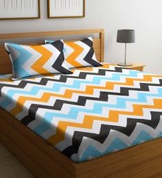 27cb7d2bee Elegantly Designed 104 TC 100% Cotton Bedsheet for Double Bed with 2 Pillow  Covers ...