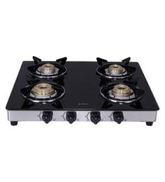 Elica 4 Burner Glass Top & Manual Gas Stove 594 Ct Dt Vetro