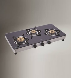 Elica Glasstop 3 Burner Auto Ignition Cooktop at pepperfry