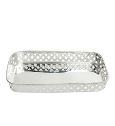 Elite Handicrafts Silver-plated Metal Serving Tray