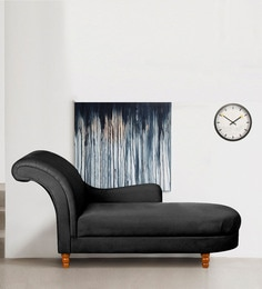 Eloquent Chaise In Black Colour
