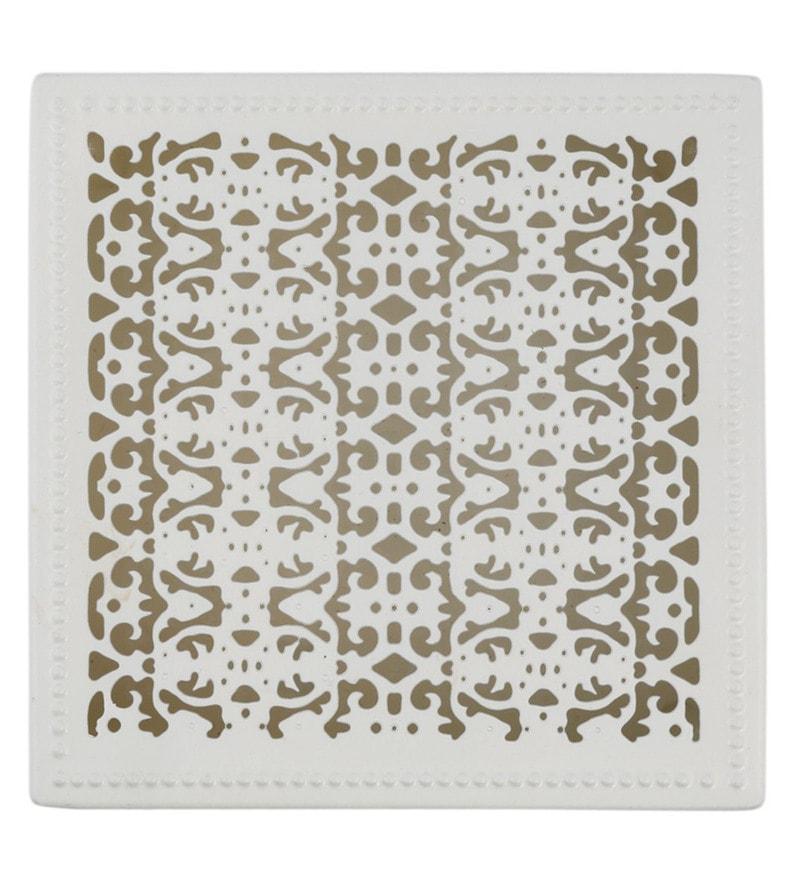 Elan Powder Coated Galvanized Sheet Off White Chantilly Decorative Jewellery Box