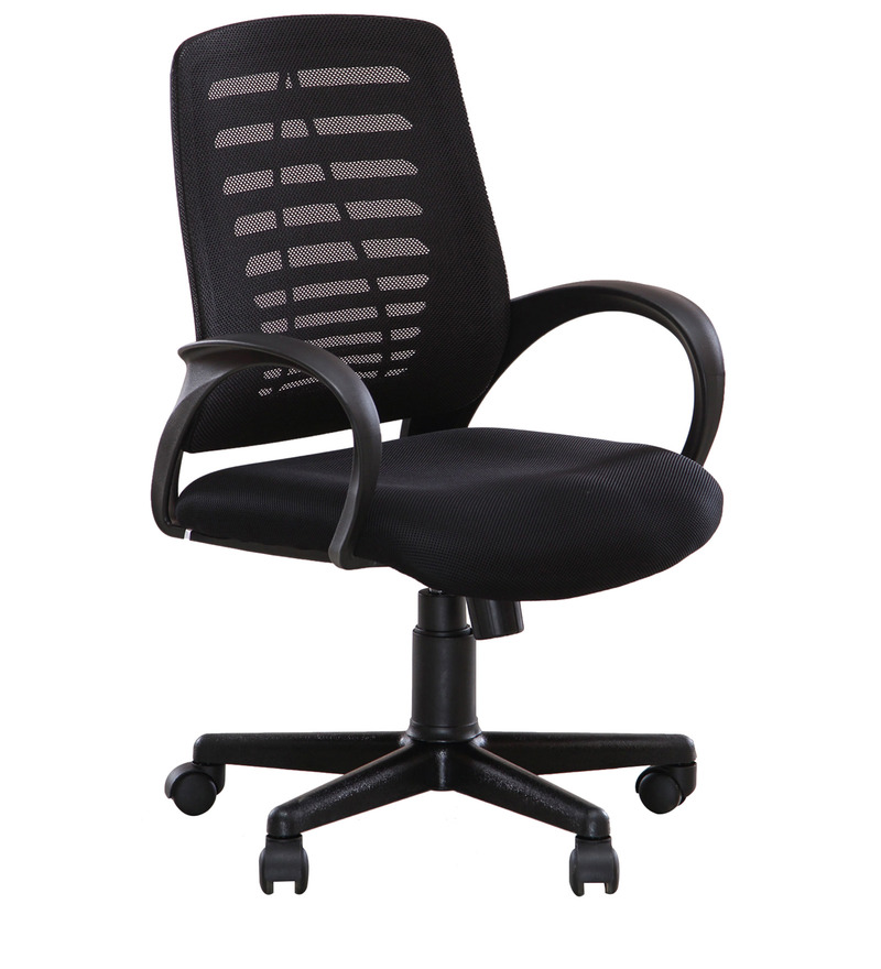 Elantra Mid Back Ergonomic Chair in Black Colour by Nilkamal