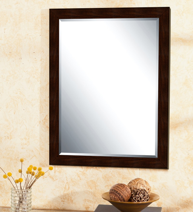 Brown Synthetic Wall Mirror by Elegant Arts and Frames