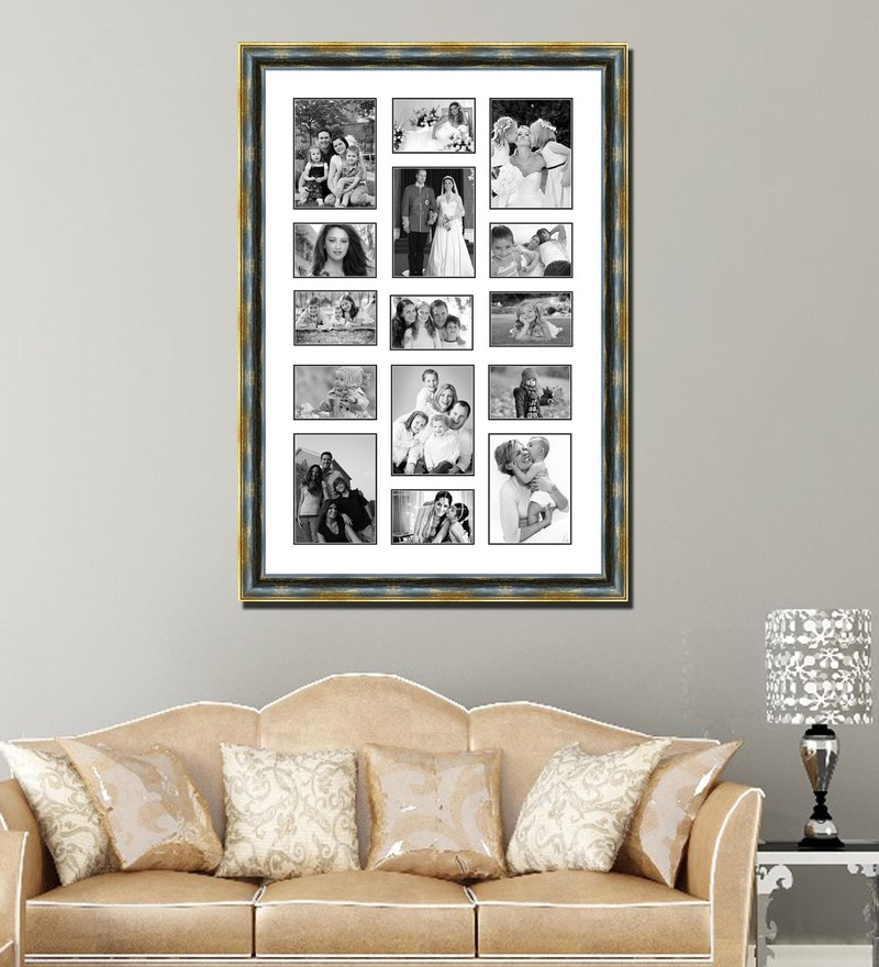 Buy Brown Wooden 36 X 1 X 36 Inch 18 Pocket Family Collage Photo