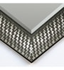 Elegant Arts & Frames Silver Synthetic Wood Wall Mirror