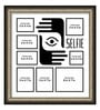 Elegant Arts and Frames Grey Synthetic 26 x 1 x 28 Inch Selfies Pattern 2 Collage Photo Frame
