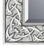 Elegant Arts and Frames Silver Wooden Decorative Wall Mirror