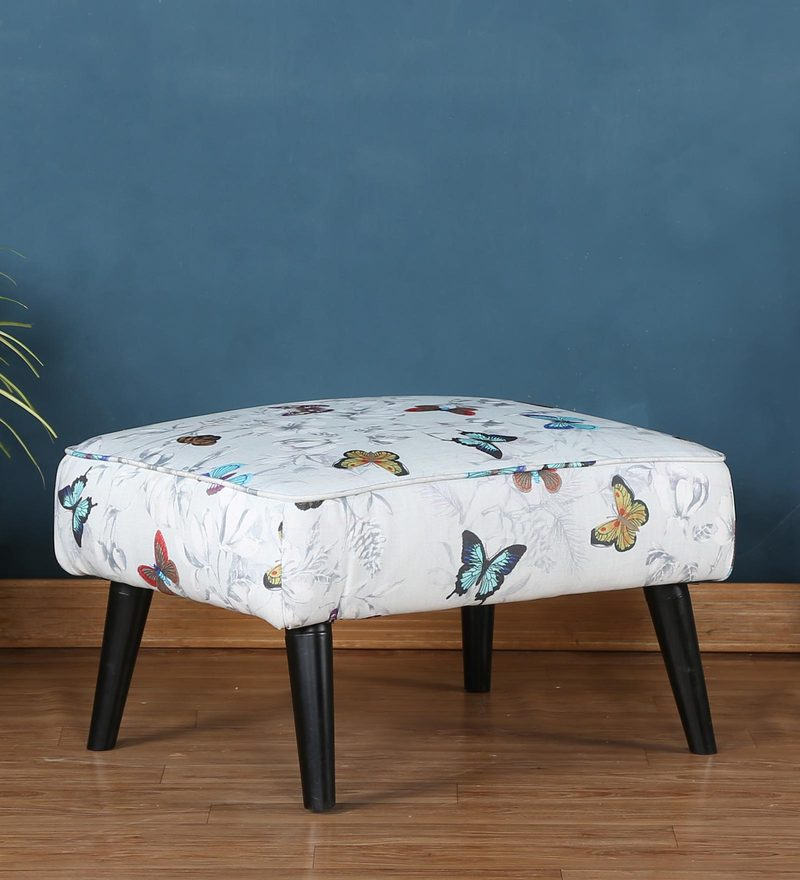 Emma Foot Stool in Floral Design by CasaCraft