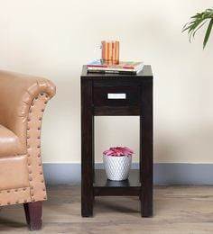 Oriel End Table In Warm Chestnut Finish