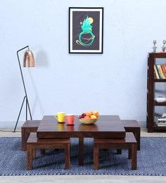 Enkel Coffee Table Set In  Provincial Teak Finish