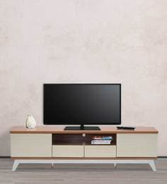 Entertainment Unit In Cherry With Light Oak Finish By Marco