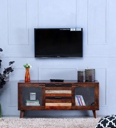 Monet Entertainment Unit In Dual Tone Finish