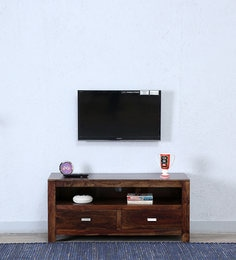 Oriel Two Drawer Entertainment Unit In Provincial Teak Finish