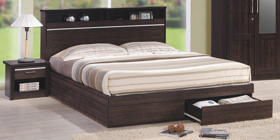 queen size bed buy double queen size beds online best prices pepperfry. Black Bedroom Furniture Sets. Home Design Ideas
