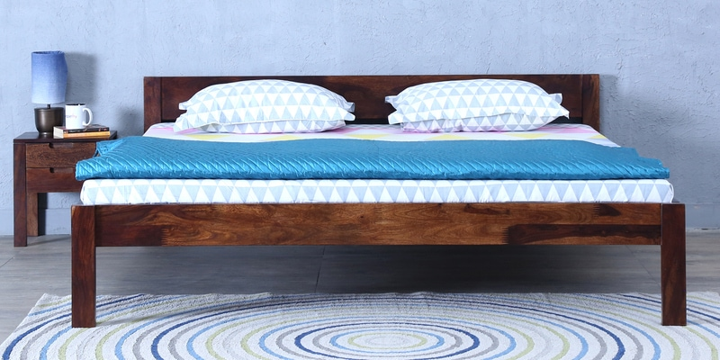 Enkel King Bed in Provincial Teak Finish by Woodsworth