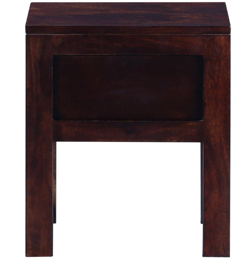 Buy Enkel Solid Wood Bed Side Table In Provincial Teak