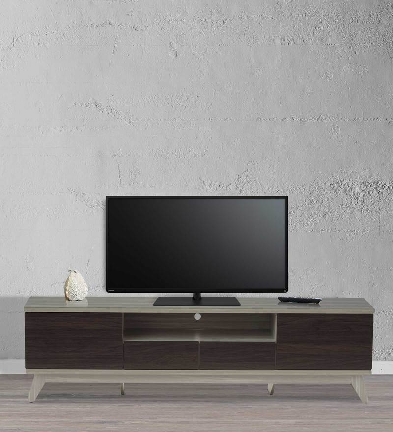 Entertainment Unit in Light Grey & Wenge Finish by Marco