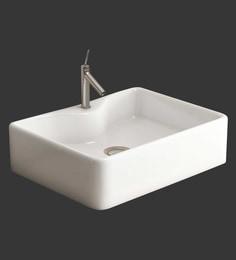 Eros Table Top White Ceramic Wash Basin (Model: Angila-TT)