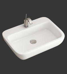 Eros Table Top White Ceramic Wash Basin (Model: Clair-TT)