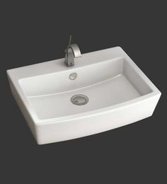 Eros Table Top White Ceramic Wash Basin (Model: Salvia-TT)