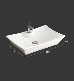 Eros Table Top White Ceramic Wash Basin (Model: Torren-TT)