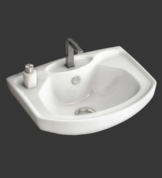Eros Wall Hung White Ceramic Wash Basin (Model: Eva-WB)