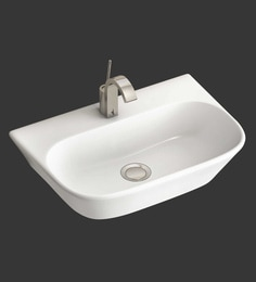 Eros Wall Hung White Ceramic Wash Basin (Model: Flanny-WB)