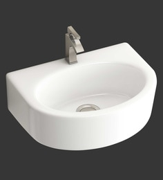Eros Wall Hung White Ceramic Wash Basin (Model: Lara-WB)