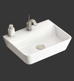 Eros Wall Hung White Ceramic Wash Basin (Model: Rima-WB)