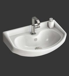 Eros Wall Hung White Ceramic Wash Basin (Model: Tunga-WB)