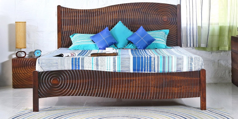 Espiral King Bed in Provincial Teak  Finish  by Woodsworth
