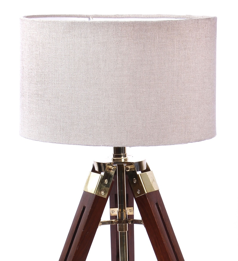 buy ethnic roots mango wood and beige color tripod table. Black Bedroom Furniture Sets. Home Design Ideas