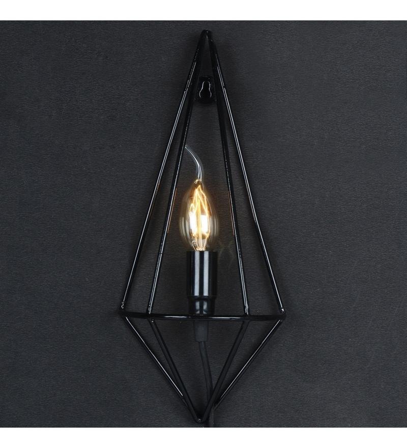 Black Iron Wall Light by Tezerac