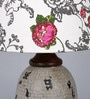 White Cotton Table Lamp by Ethnic Roots