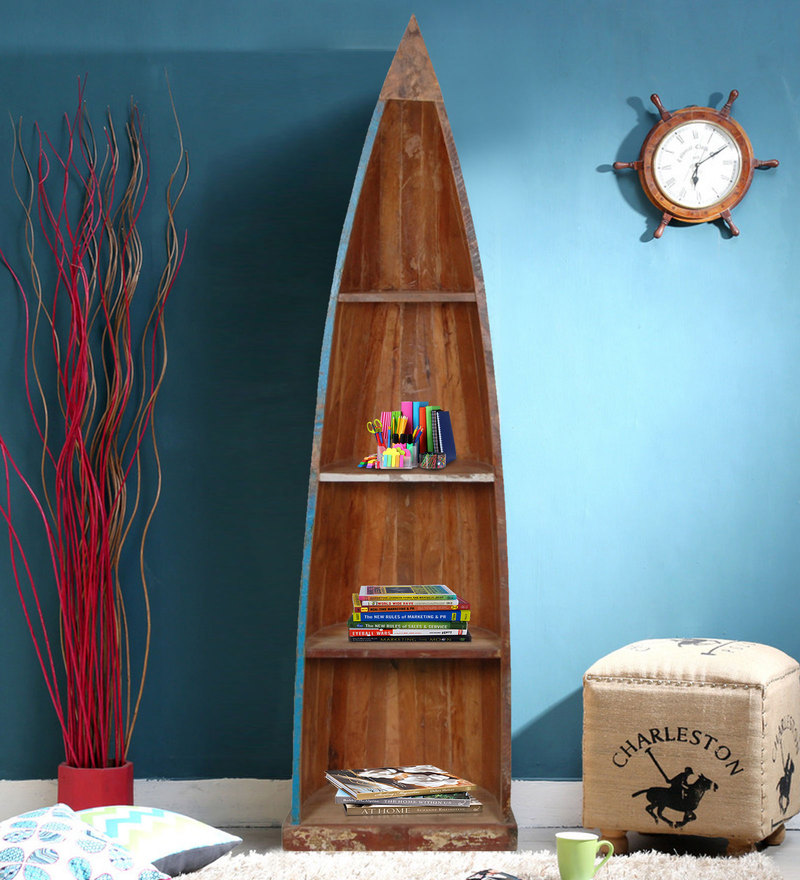 Eugene Bookshelf in Distress Finish by Bohemiana