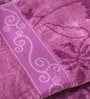 Eurospa Marvel Purple Cotton Bath Towel - Set of 2