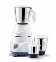 Eveready Mixer Grinder GLOWY - White and Blue