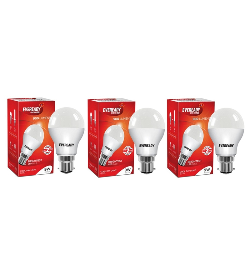 Eveready LED Bulb Combo 9W - 6500K Pack of 3