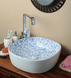 Exor 1985 Laser Printing Ceramic Table Top Designer Wash Basin