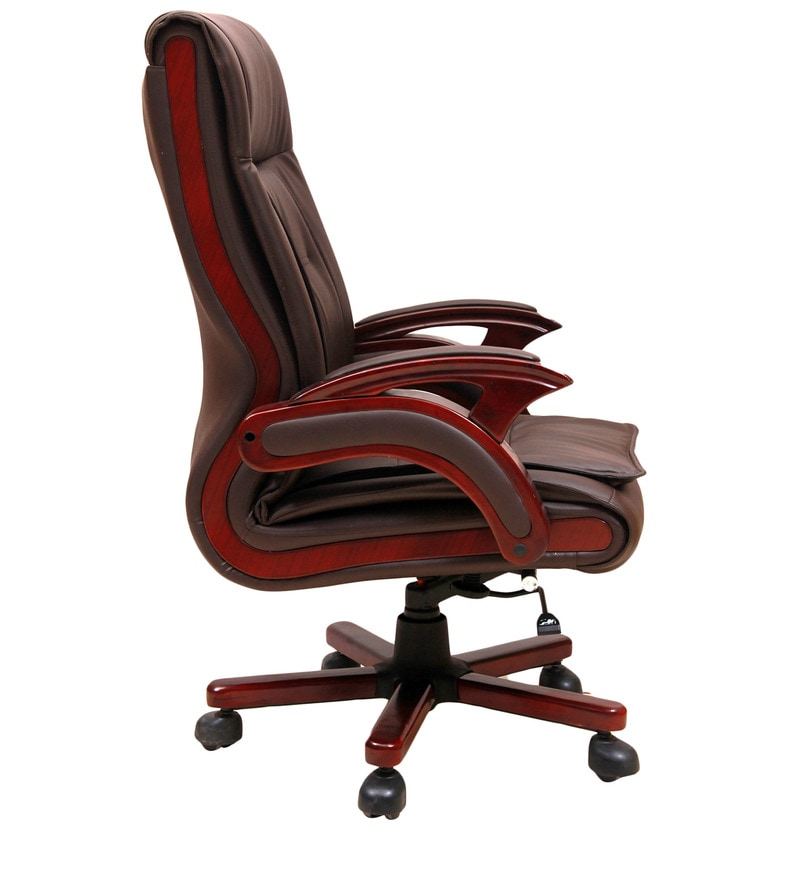 Buy Executive High Back Chair In Brown Colour By Geeken Online